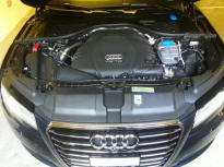 Audi A7 Engine Steam Cleaning